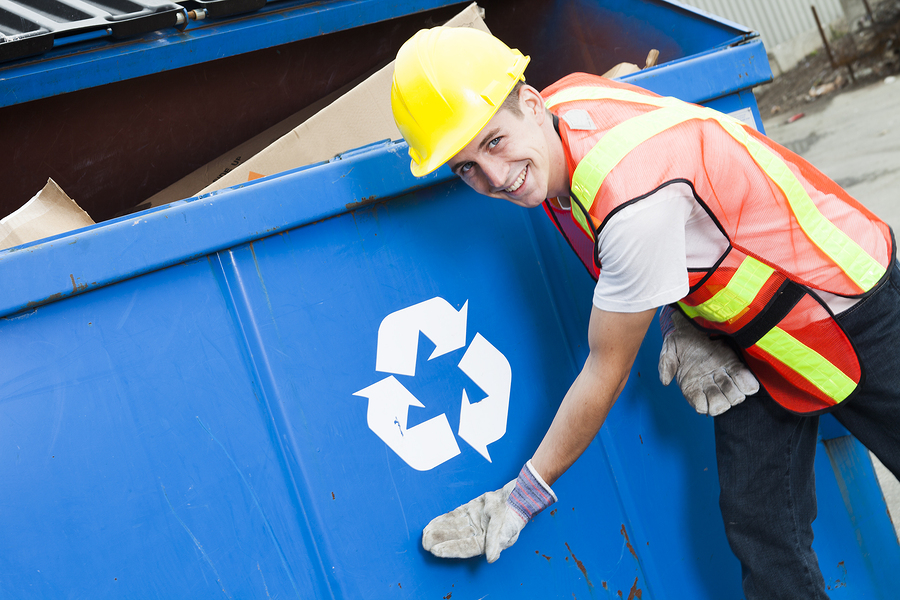 Worker Of A Reputable Rubbish Removal North Shore Business
