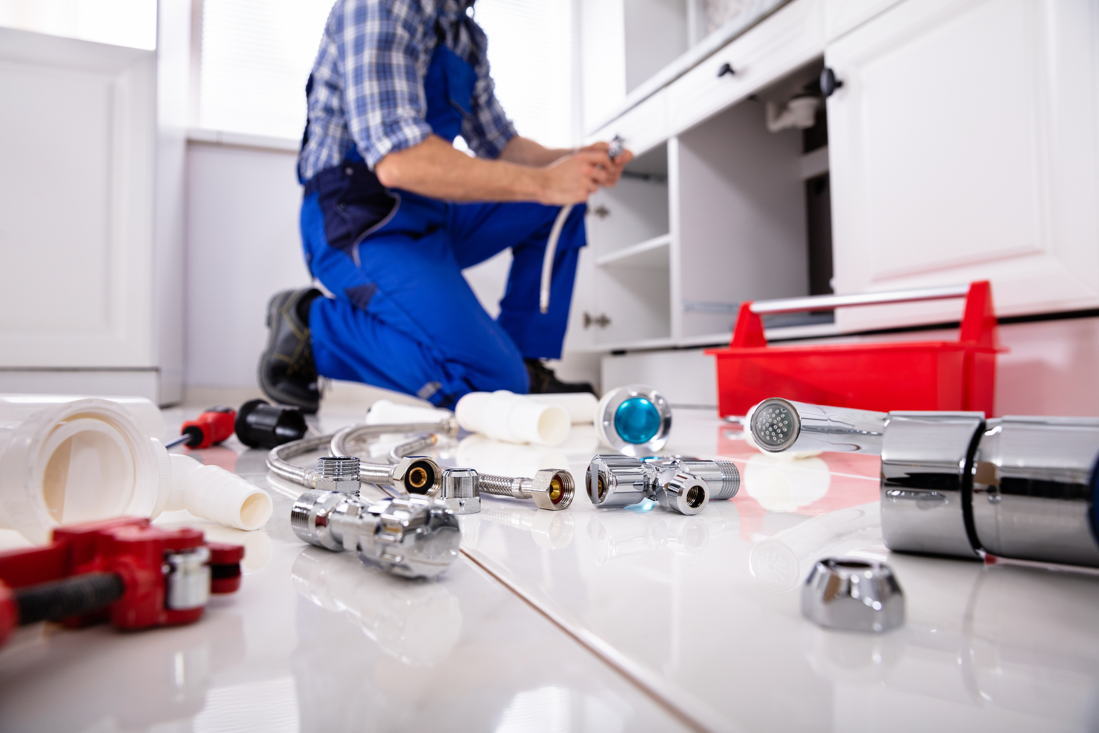 Canberra Plumber And His Tools On The Floor